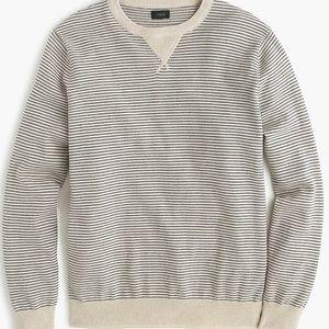 New J Crew Striped Cotton Sweatshirt Sweater L